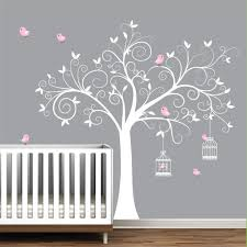 Nursery Wall Decorations Removable Stickers Wall Decal Tree With Birdcages Birds Baby Wall Decal Nursery Wall