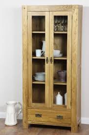 solid oak china cabinet bevel solid light oak range display cabinet oak furniture land