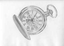 a drawing of a pocket watch it reminds me of a great time last