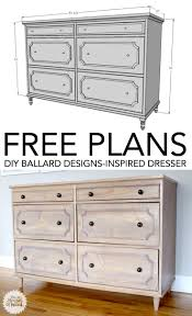 diy ballard designs inspired dresser