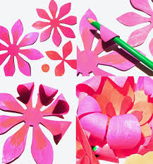 Make Your Own Paper Flowers - printable kids activities learn and play day of the dead pdf