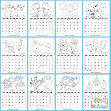 printable calendar kids 2018 itsy bitsy fun