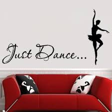 compare prices on wall just dance online shopping buy low price just dance wall stickers home decor ballet dancer wall decal dance studio wall art decoration