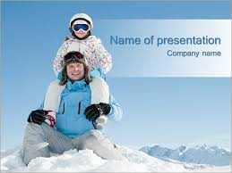 family ski holiday powerpoint template u0026 backgrounds id 0000003612