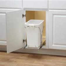 garbage can under the sink pull out built in trash cans cabinet slide under sink for brilliant
