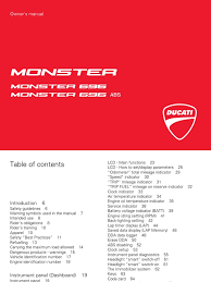 ducati monster 696 owners manual eng clutch motorcycle