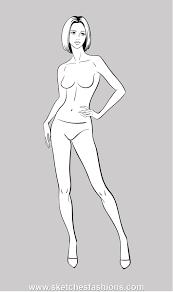 gallery female body sketch for fashion drawing art gallery