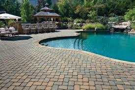 Herringbone Brick Patio Project Details Paver Pool Decks Paver Pool Decks
