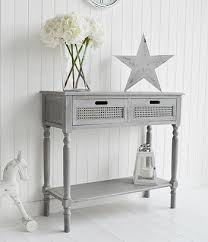 Grey Console Table Colonial Furniture Range In Grey Console Table With