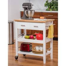 trinity 3 tier kitchen cart with drawers