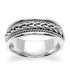 7mm ring 14k white gold woven wedding ring 7mm gr49a7wg groom s ring