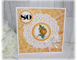 80th birthday card painted birthday card handmade cards