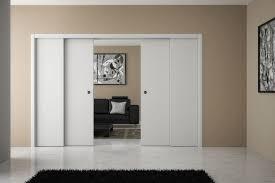 chambre a coucher porte coulissante design d intérieur porte blanche galandage chambre a coucher