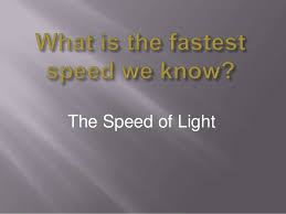 How Fast Is Light Light Year Cscope