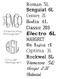 monogrammed fonts occasions engraving font options preview monograms
