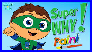 super why paint children u0027s color painting games super why