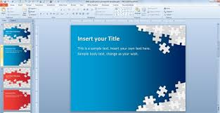 Free Puzzle Pieces Powerpoint Template For Presentations Free Power Point