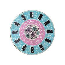 Home Decor Recycled Materials by Custom Made Clock Domino Clock Mosaic Clock Made To Order
