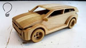 wooden range rover evoque toy car youtube