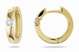 gold hoop earrings uk sterling silver hoop earrings18ct yellow gold plated with diamond