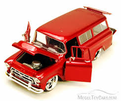 1957 chevy suburban suv red jada toys bigtime kustoms 50267 1