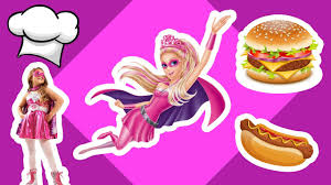Kitchen Princess Super Barbie Cooking Delicious Foods In Her Kitchen Princess