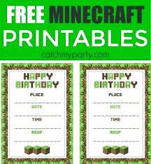 free printable birthday invitations minecraft minecraft birthday invitations free printable invitations minecraft