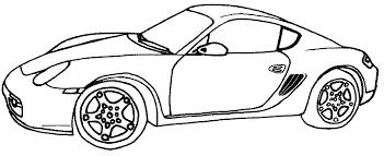 dessins de voitures sportives à colorier