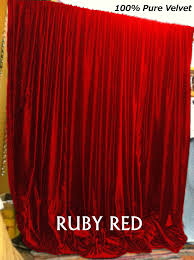 home theater curtains amazon com new ruby red velvet curtains backstage church theater