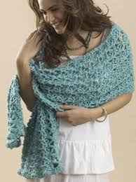 crochet wrap a one skein wrap allfreecrochet