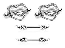 with nipple rings images 2pcs clear heart nipple shield rings 2pcs angel jpg