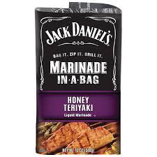 jack daniels jack daniels honey teriyaki marinade in a bag 12 oz bag