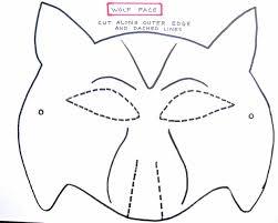 paper halloween mask paper mask template templatez234