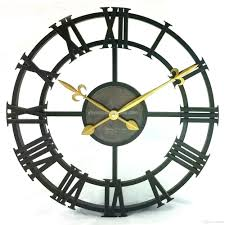 17 inch vintage wall clock antiqued hollow design silent quartz