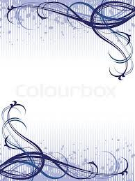 Hintergrundmuster Blau Vektor Blau Abstrakt Floral Grunge Hintergrundmuster