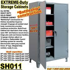 Heavy Duty Steel Cabinets Extreme Duty Steel 30 Inch Deep Storage Cabinets Sh011