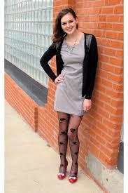 black dress black hose red shoes fashion dresses