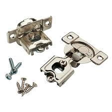 best soft hinges for kitchen cabinets brainerd 2 pack 1 2 in nickel plated soft concealed cabinet hinge
