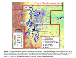 colorado front range map study quantifies of and gas emissions in ozone formation
