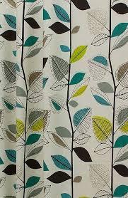 Teal Curtains Autumn Leaves Teal Curtain Fabric