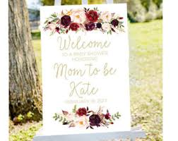 baby shower welcome sign baby shower welcome etsy