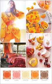 orange spice color the saffron kumquat and papaya these are some of my colors