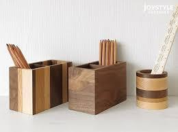 Wooden Desk Accessories 4pcsset Creative Wooden Stationery Desk Set School Supplies