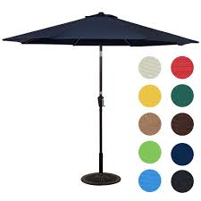 Aluminum Patio Umbrella by 9 Feet Aluminum Patio Umbrella Coffee