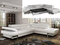canapé blanc d angle canapé d angle convertible en simili damien noir ou blanc