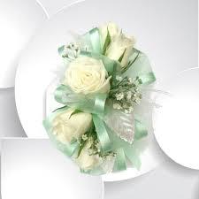 prom wrist corsage sophisticated seafoam wrist corsage milwaukie florist