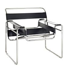 amazon com modway premium wassily style chair in black leather