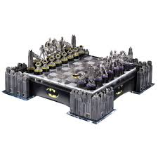 holy chess game batman deluxe batman chess set from noble collection