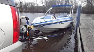 boat trailer guides with lights guide on step boat launch youtube