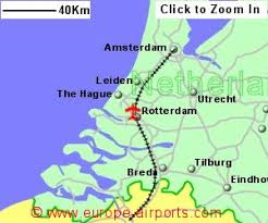 netherlands location in europe map rotterdam the hague airport netherlands rtm guide flights